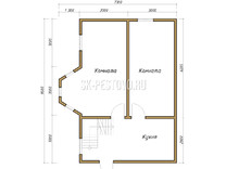 Дом из бруса проект Адам - вид 1