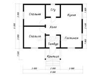 Каркасный дом КД-69