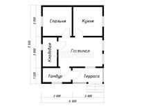 Каркасный дом КД-68