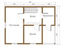 Дом из бруса проект Антон - вид 1