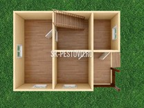 Дом из бруса проект Антон - вид 3