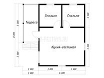 Каркасный дом КД-67