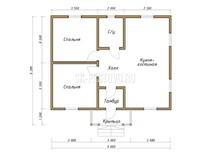 Дом из бруса проект Аркадий - вид 1
