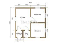 Каркасный дом КД-20