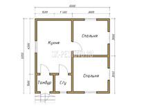 Дом из бруса проект Артур - вид 1