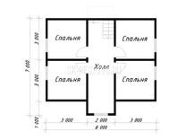 Каркасный дом КД-45