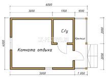Дом из бруса проект Игорь - вид 1