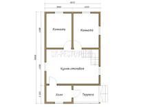 Дом из бруса проект Леон - вид 1