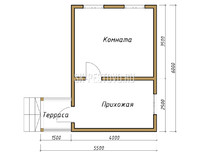 Дом из бруса проект Максим - вид 1