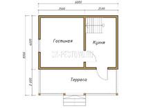 Дом из бруса проект Михаил - вид 1