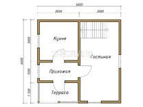 Дом из бруса проект Наум - вид 1