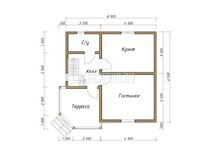 Дом из бруса проект Никита - вид 1