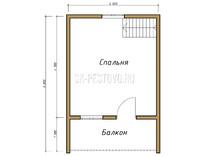 Дом из бруса проект Павел - вид 2