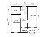 Дом из бруса Пётр
