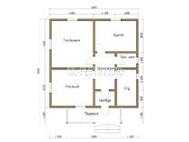 Дом из бруса проект Потап - вид 1