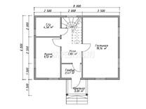 Каркасный дом КД-55
