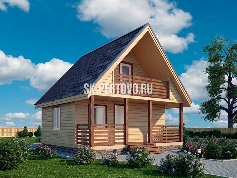 Проект Д-20: Дом-баня из бруса 7х6 м., 38 м.кв. 234 000 рублей ... | 600x800